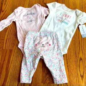 Baby Girl Carter's 3 Piece 3 month Outfit